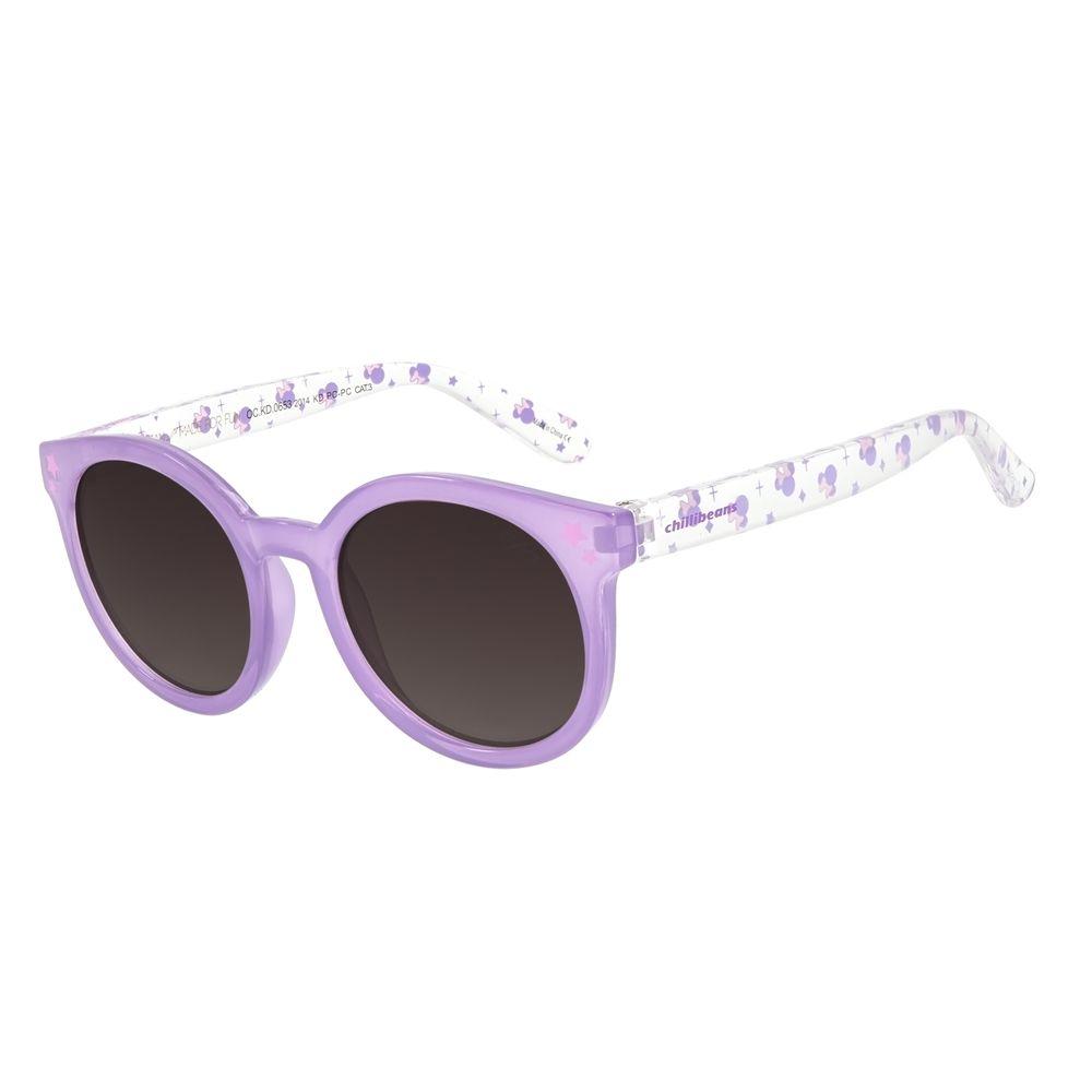 Óculos de Sol Infantil Disney Minnie Redondo Roxo OC.KD.0653-2014