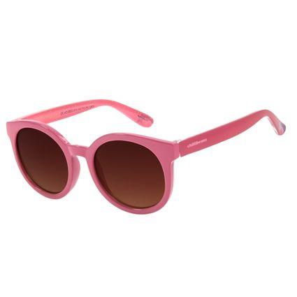 Óculos de Sol Infantil Disney Minnie Redondo Degradê Marrom OC.KD.0653-5713