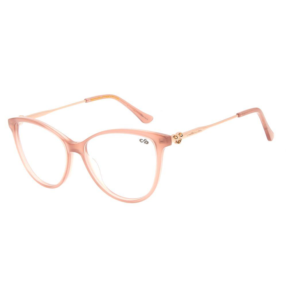 Armação Para Óculos de Grau Feminino Mãe Natureza Cat Leaf Rosé LV.AC.0650-9595