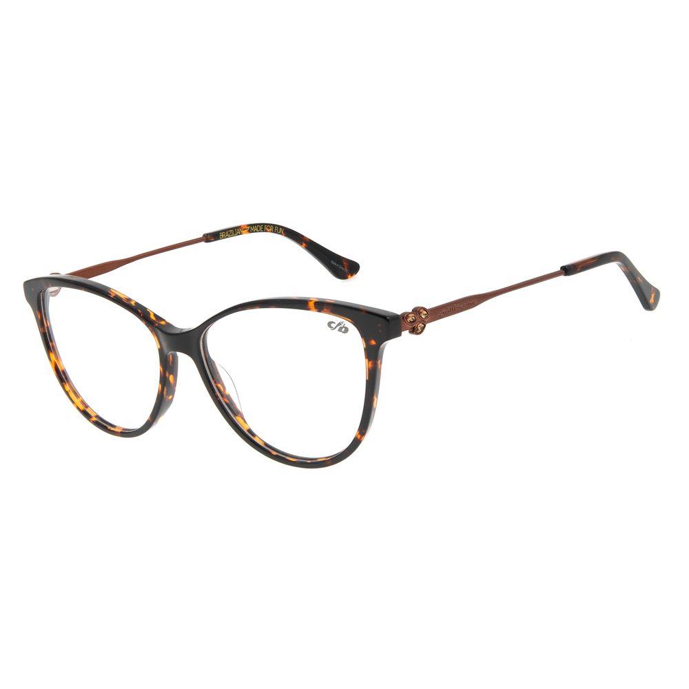 Armação Para Óculos de Grau Feminino Mãe Natureza Cat Leaf Tartaruga LV.AC.0650-0602