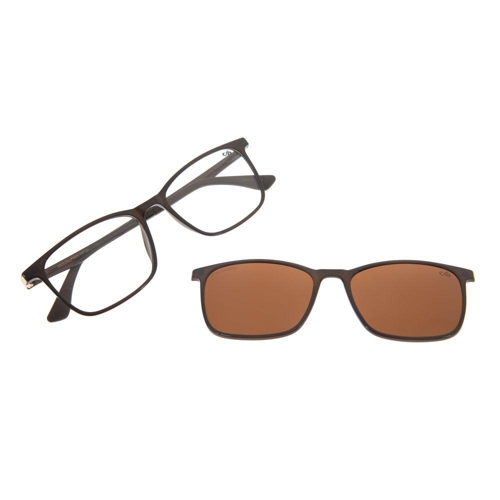 Armação Para Óculos De Grau Masculino Chilli Beans Multi Marrom Polarizado LV.MU.0274-0202