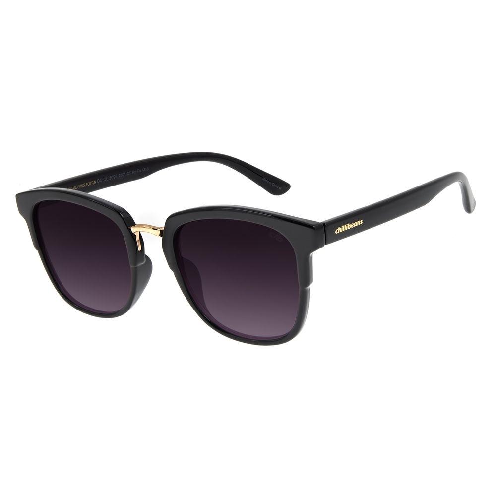 Óculos de Sol Feminino Chilli Beans Basic Redondo Preto OC.CL.3096-2001
