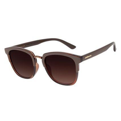 Óculos de Sol Feminino Chilli Beans Basic Redondo Marrom OC.CL.3096-5702