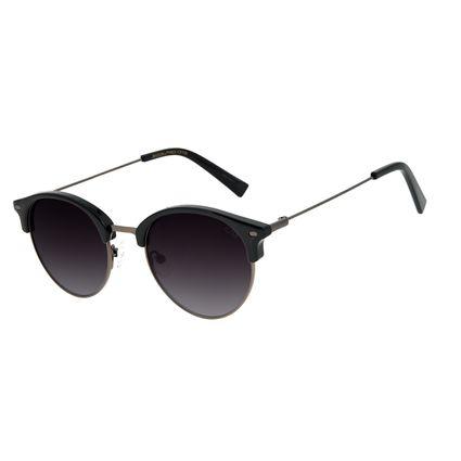 Óculos de Sol Unissex Chilli Beans Redondo Classic Ônix OC.CL.3177-0122