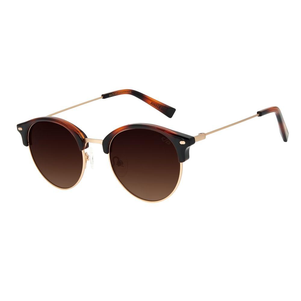 Óculos de Sol Unissex Chilli Beans Redondo Classic Dourado OC.CL.3177-5721