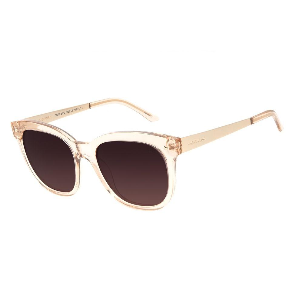 Óculos de Sol Feminino Chilli Beans Redondo Polarizado Basic Bege OC.CL.3182-5723