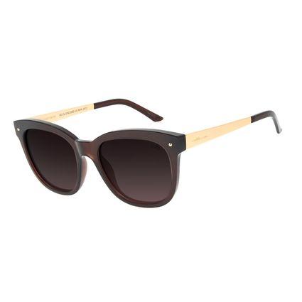 Óculos de Sol Feminino Chilli Beans Redondo Polarizado Basic Marrom OC.CL.3182-2002