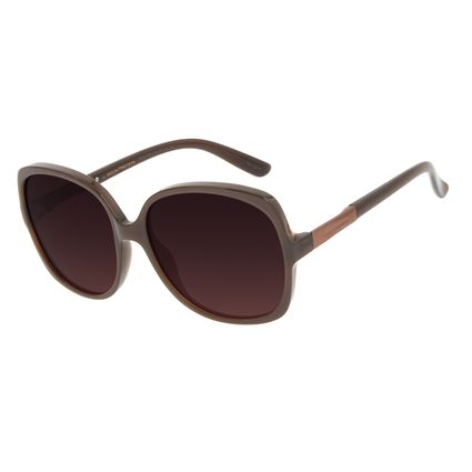 Óculos de Sol Feminino Chilli Beans Classic Quadrado Degradê Marrom OC.CL.3183-5702