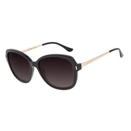 Óculos de Sol Feminino Chilli Beans Quadrado Classic Polarizado Preto OC.CL.3184-2001