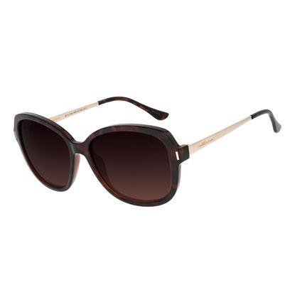 Óculos de Sol Feminino Chilli Beans Quadrado Classic Polarizado Marrom OC.CL.3184-2002