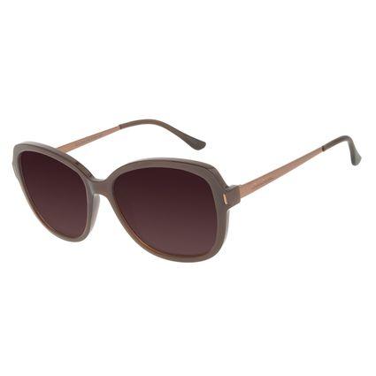 Óculos de Sol Feminino Chilli Beans Quadrado Classic Marrom Polarizado OC.CL.3184-5702
