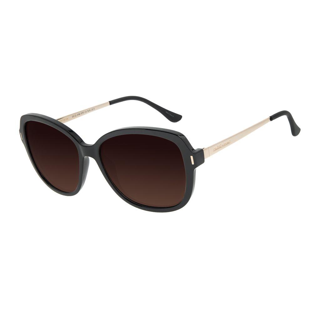 Óculos de Sol Feminino Chilli Beans Quadrado Classic Polarizado Degradê Marrom OC.CL.3184-5701