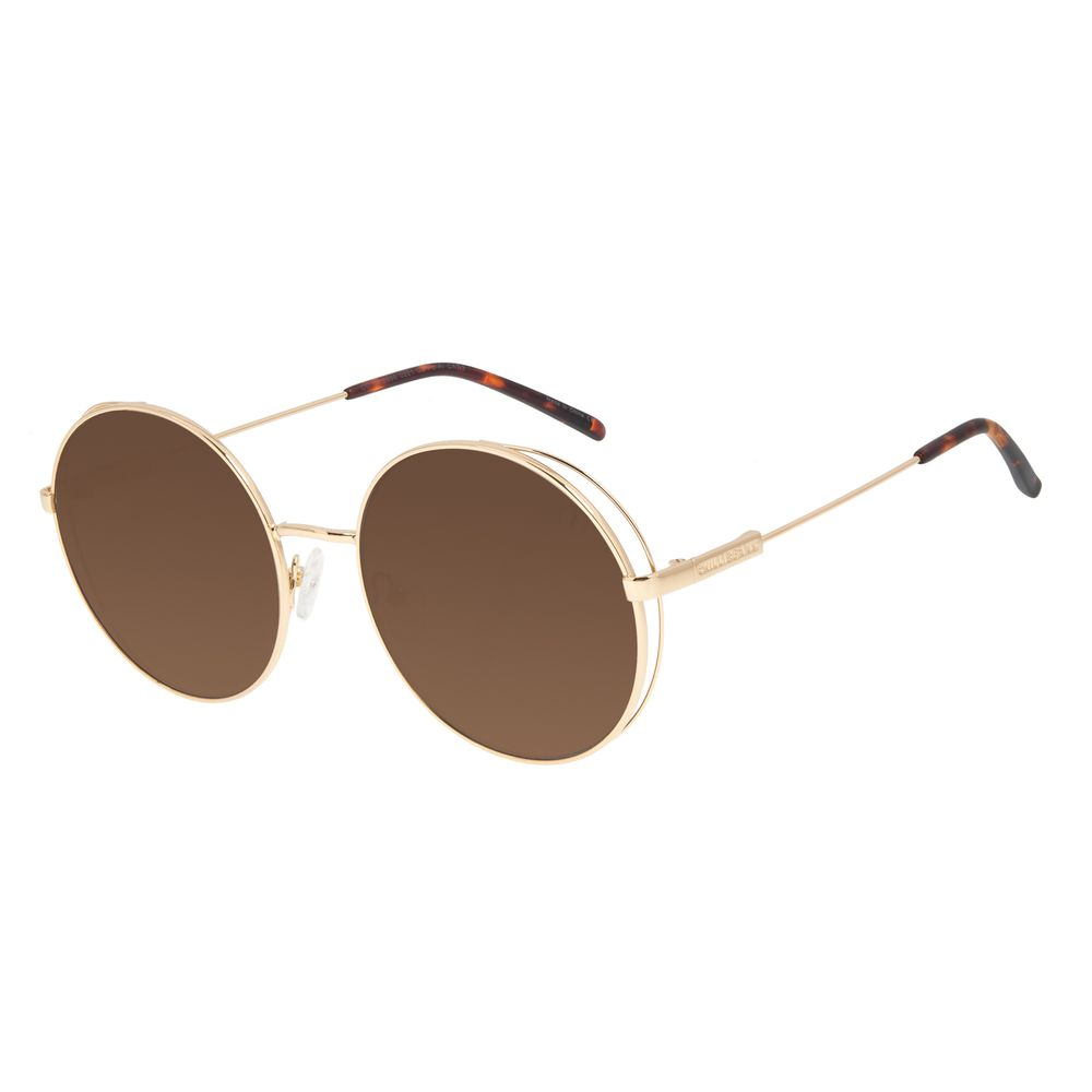 Óculos de Sol Feminino Chilli Beans Flap Dourado Banhado a Ouro OC.MT.2996-0221