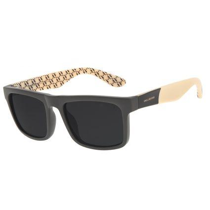 Óculos de Sol Masculino Funk-se Ludmilla Bossa Nova Correntes Marrom OC.CL.3156-0102