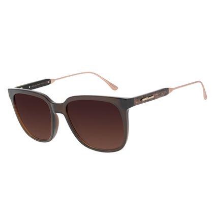 Óculos de Sol Feminino Chilli Beans Quadrado Wood Marrom OC.CL.3202-2002