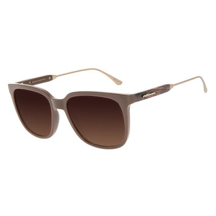 Óculos de Sol Feminino Chilli Beans Quadrado Wood Degradê Marrom OC.CL.3202-5702