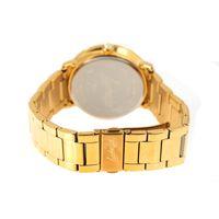 Relógio Analógico Feminino Funk-se Pedraria Dourado RE.MT.1165-2121.2