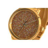Relógio Analógico Feminino Funk-se Pedraria Dourado RE.MT.1165-2121.5