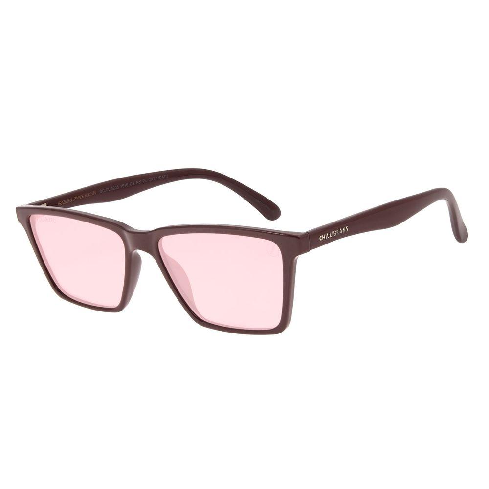Óculos de Sol Masculino Color Match Ludmilla Bossa Nova Vermelho OC.CL.3205-1616