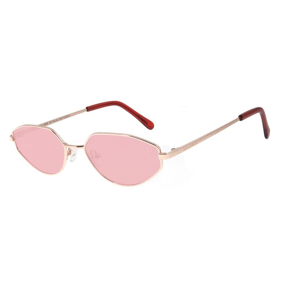 Óculos de Sol Unissex Color Match Ludmilla Redondo Polarizado Rosé OC.MT.3029-9595