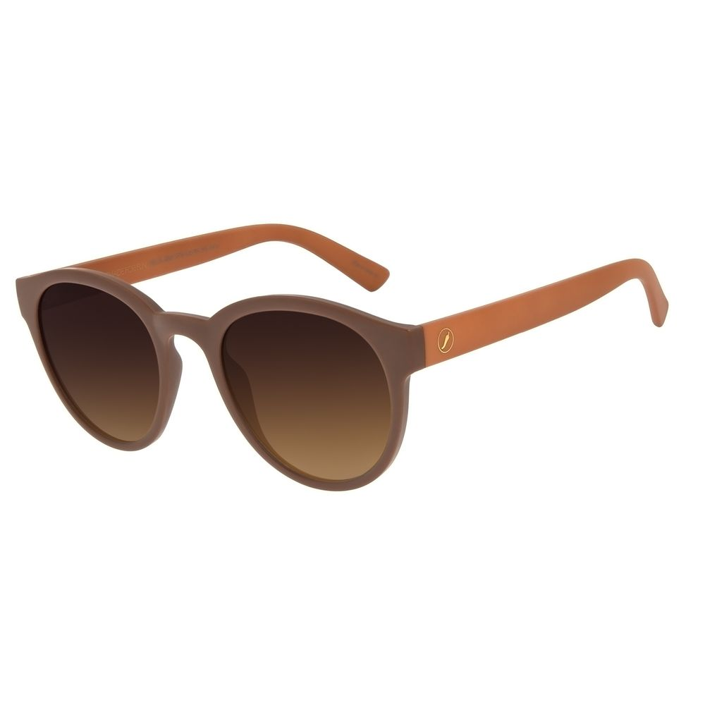Óculos de Sol Unissex Color Match Redondo Degradê Marrom OC.CL.3207-5702