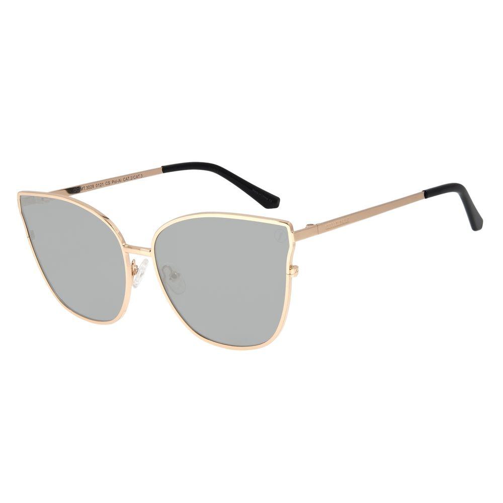 Óculos de Sol Feminino Color Match Polarizado Preto OC.MT.3028-0121
