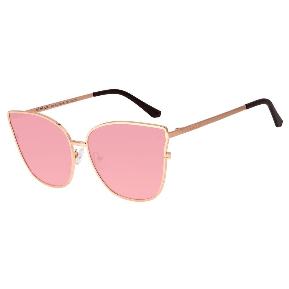 Óculos de Sol Feminino Color Match Polarizado Vermelho OC.MT.3028-1621
