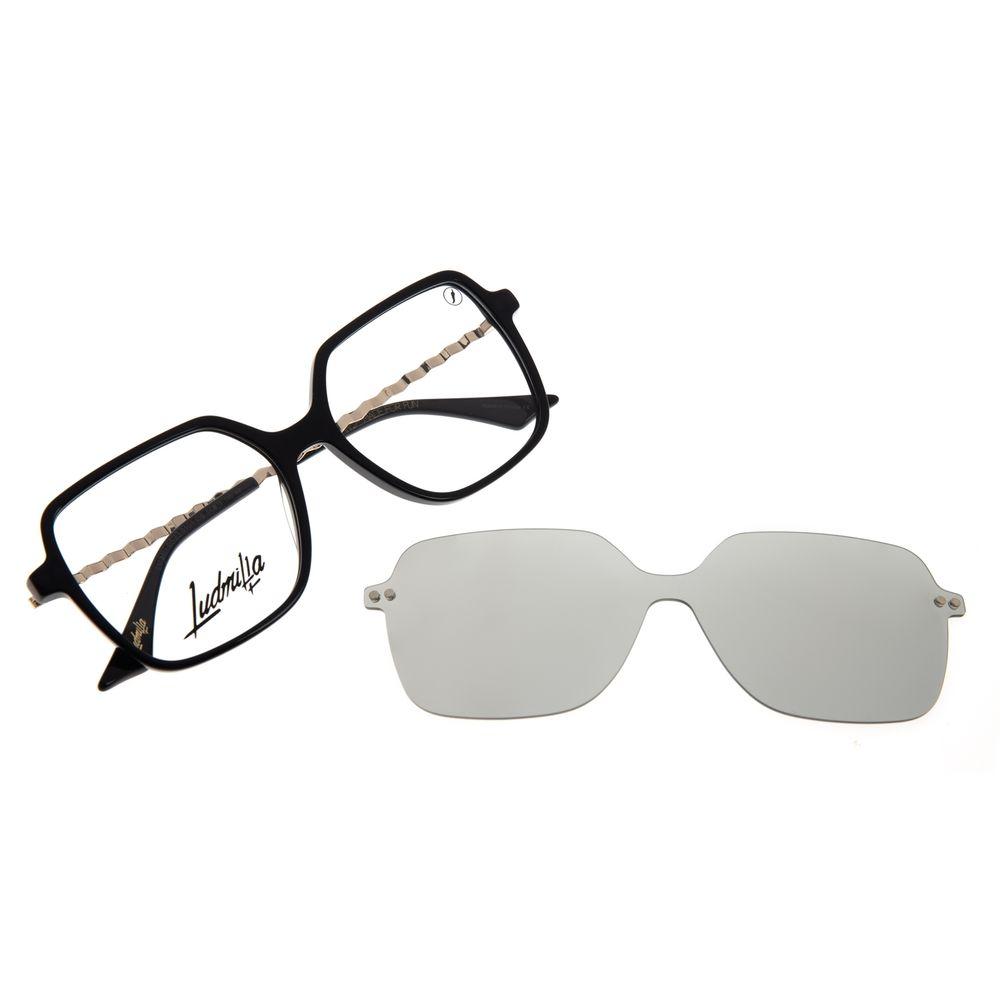 Armação Para Óculos de Grau Feminino Color Match Ludmilla Multi Polarizado Preto LV.MU.0523-0101