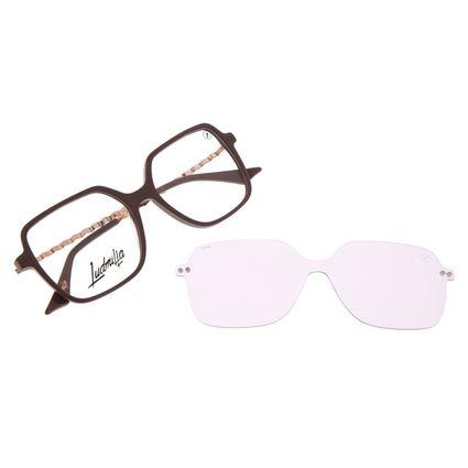 Armação Para Óculos de Grau Feminino Color Match Ludmilla Multi Polarizado Bege LV.MU.0523-1423
