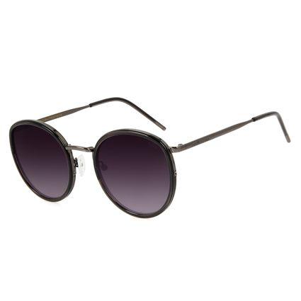Óculos de Sol Feminino Chilli Beans Redondo Ônix OC.MT.3001-0122