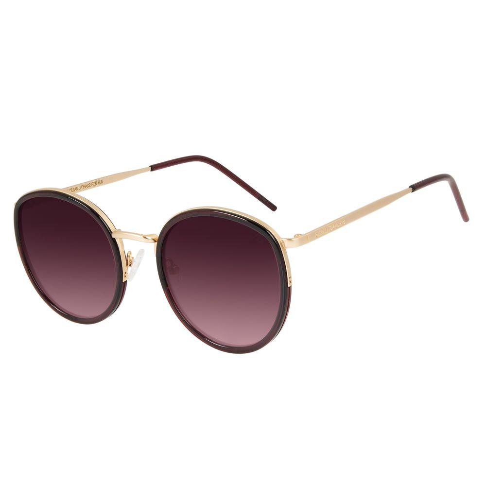 Óculos de Sol Feminino Chilli Beans Redondo Dourado OC.MT.3001-1721