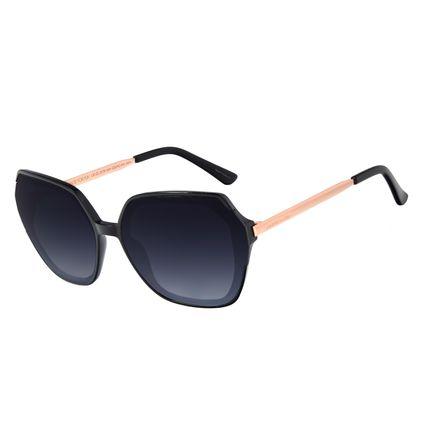 Óculos de Sol Feminino Chilli Beans Trend Quadrado Preto OC.CL.3178-2001