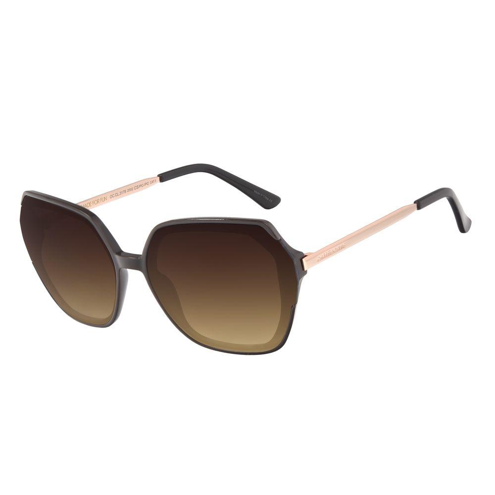 Óculos de Sol Feminino Chilli Beans Trend Quadrado Marrom OC.CL.3178-2002