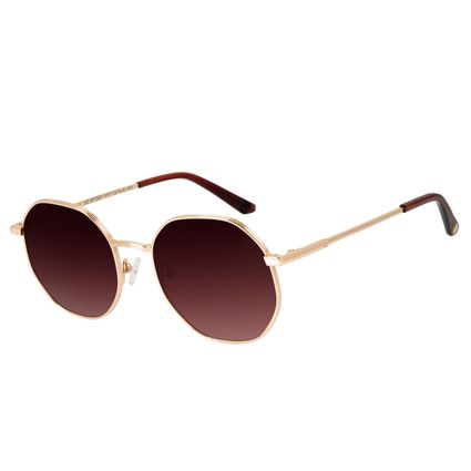 Óculos de Sol Feminino Chilli Beans Redondo Dourado OC.MT.2971-5721