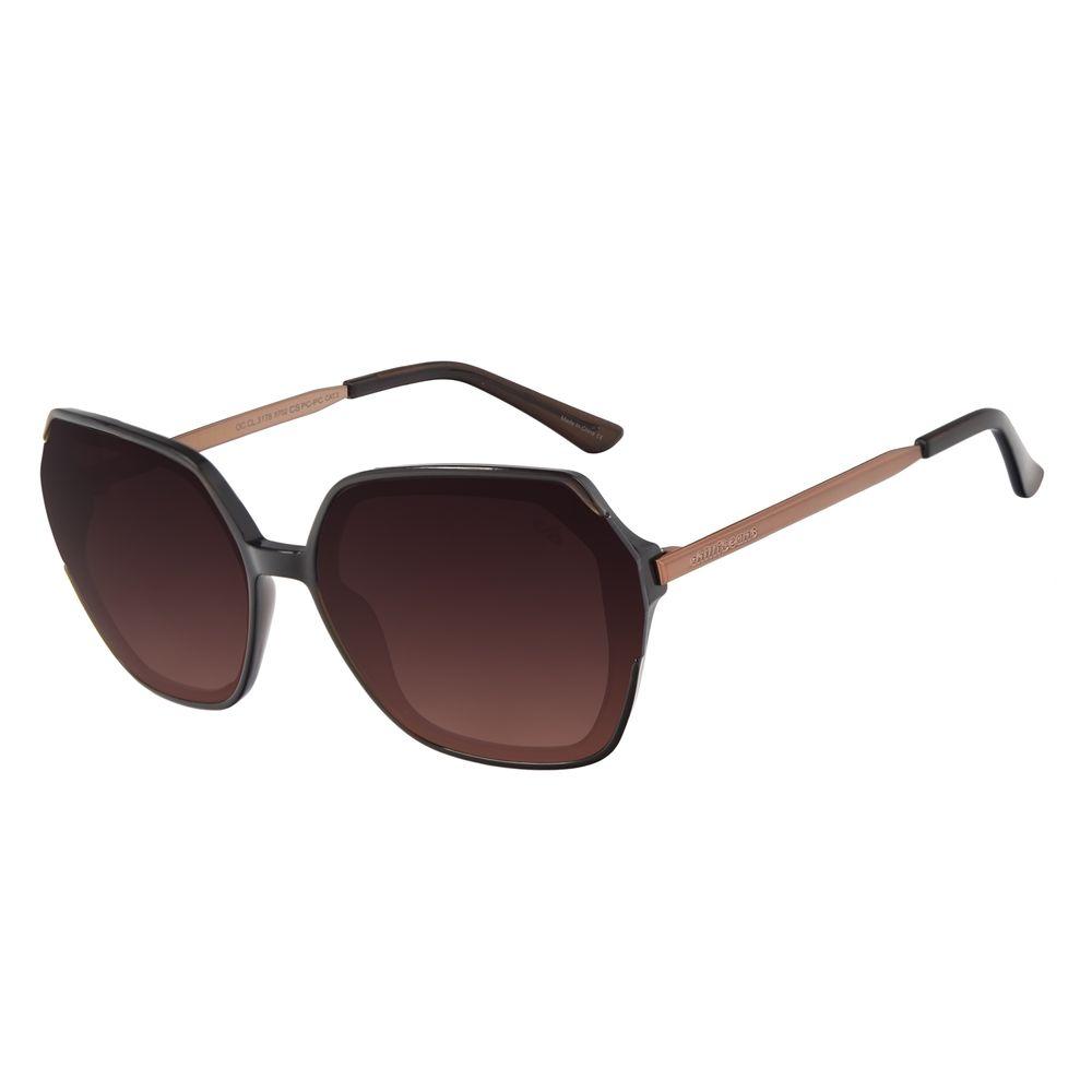 Óculos de Sol Feminino Chilli Beans Trend Quadrado Marrom OC.CL.3178-5702