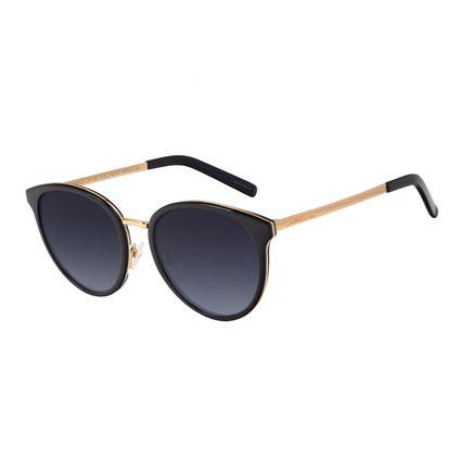 Óculos de Sol Feminino Chilli Beans Basic Redondo Dourado OC.CL.3180-2021