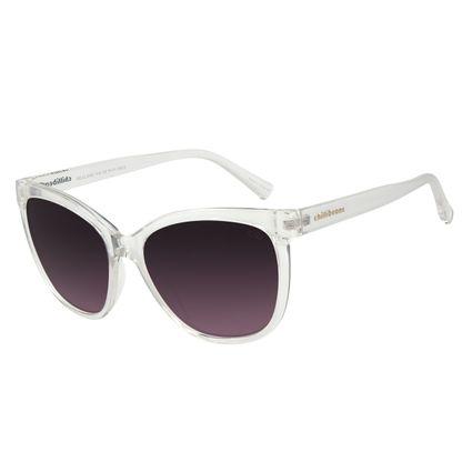 Óculos de Sol Feminino Chilli Beans Classic Quadrado Crystal Transparente OC.CL.3192-1436