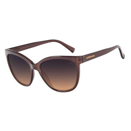 Óculos de Sol Feminino Chilli Beans Classic Quadrado Marrom OC.CL.3192-2002