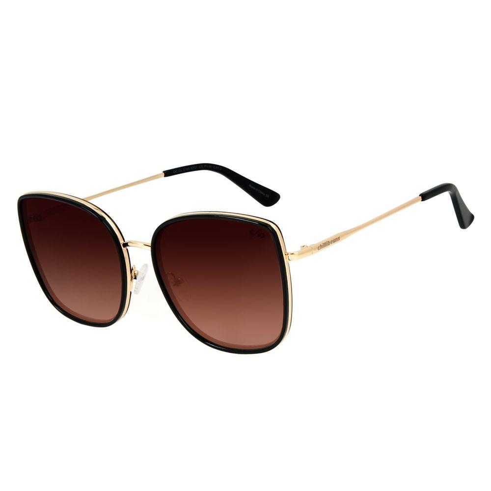 Óculos de Sol Feminino Chilli Beans Quadrado Basic Degradê Marrom OC.CL.3194-5701
