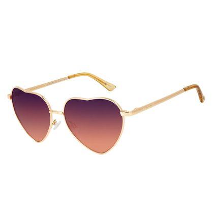 Óculos de Sol Feminino Lollapalooza Love Dourado OC.MT.2970-1421