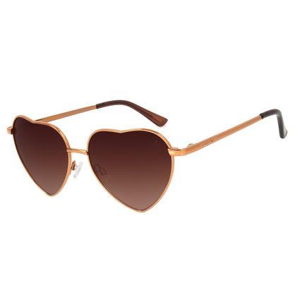 Óculos de Sol Feminino Lollapalooza Love Degradê Marrom OC.MT.2970-5702