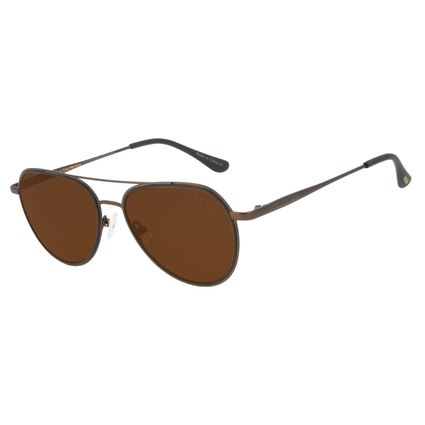 Óculos de Sol Unissex Lollapalooza Brasil Lollaviator Aviador Marrom OC.MT.2816-0202