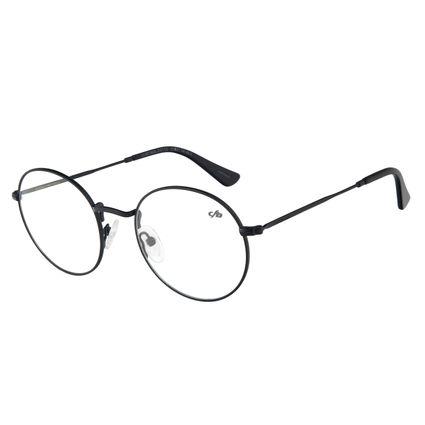 Armação Para Óculos de Grau Masculino Chilli Beans Redondo Preto LV.MT.0443-0101
