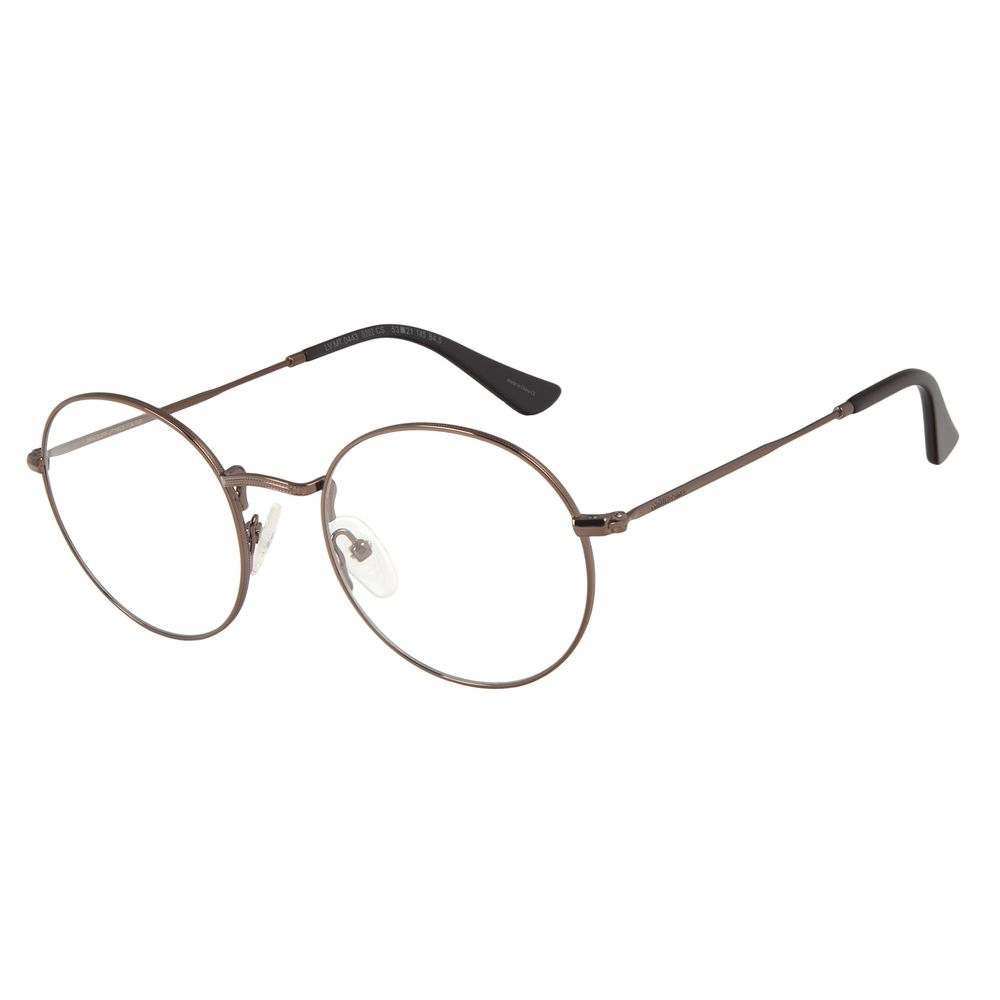 Armação Para Óculos de Grau Masculino Chilli Beans Redondo Marrom LV.MT.0443-0202