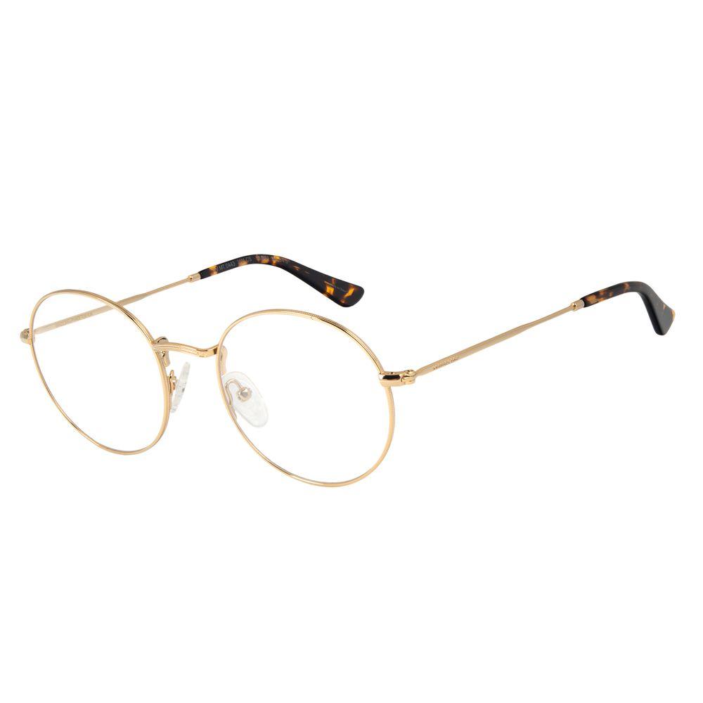 Armação Para Óculos de Grau Masculino Chilli Beans Redondo Dourado LV.MT.0443-2121