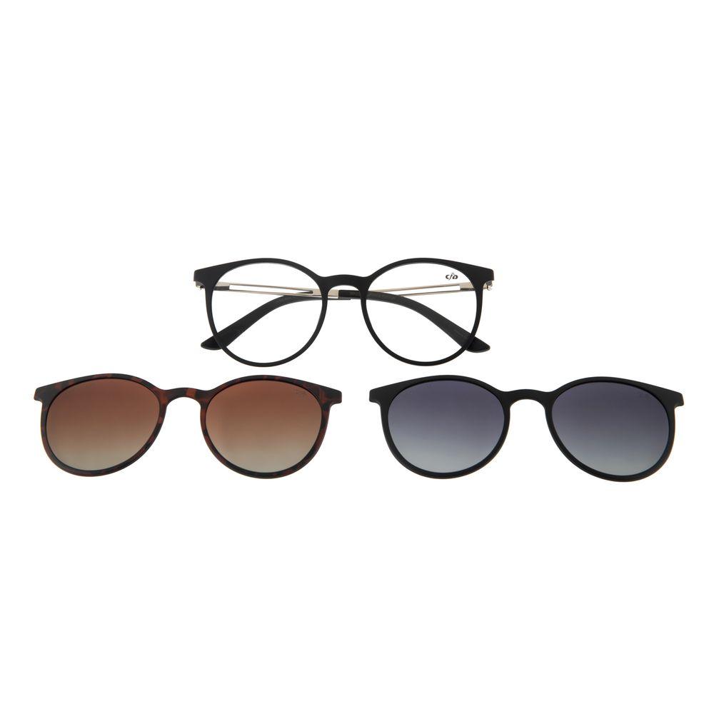 Armação Para Óculos de Grau Feminino Chilli Beans Multi Polarizado Preto LV.MU.0344-2001