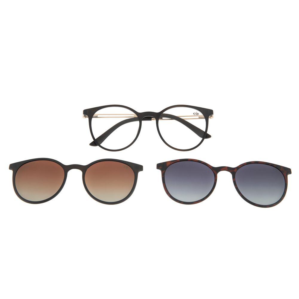 Armação Para Óculos de Grau Feminino Chilli Beans Multi Polarizado Degradê Marrom LV.MU.0344-2002