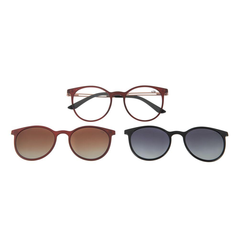 Armação Para Óculos de Grau Feminino Chilli Beans Multi Polarizado Vinho LV.MU.0344-2017