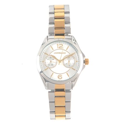 Relógio Analógico Feminino Chilli Beans Metal 2 Subdials Dourado RE.MT.1031-0721
