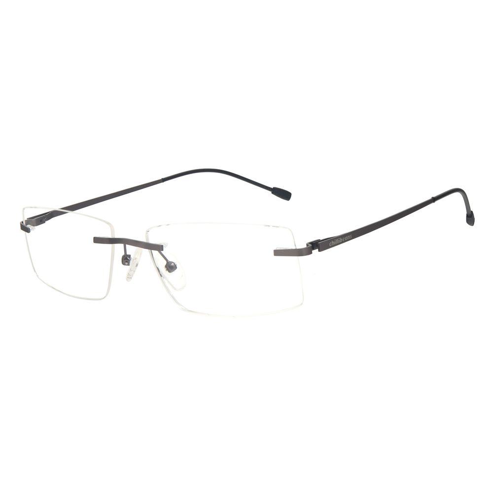 Armação Para Óculos de Grau Masculino Chilli Beans Titânio 3 Peças Ônix LV.MT.0481-2222
